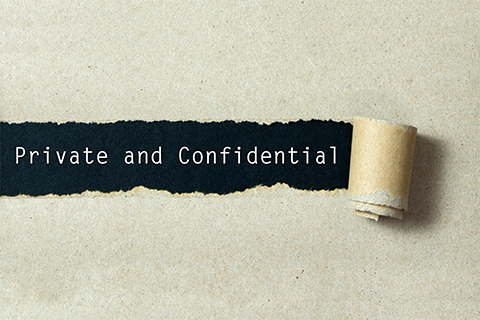 Image with the words Private and Confidential featured on a package